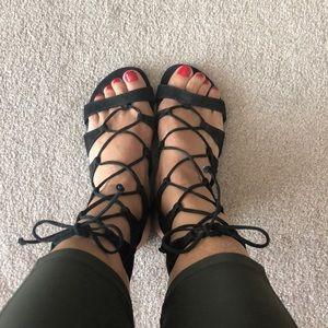 Schutz black gladiators sandals